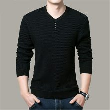 Sweater Men Casual V-Neck Pullover Men Autumn Slim Fit Long Sleeve Shirt Men's Sweaters Knitted Cashmere Wool Pull